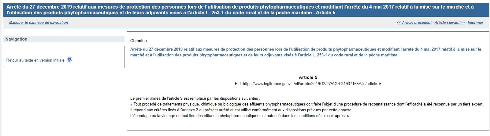 Modification de l'article 9